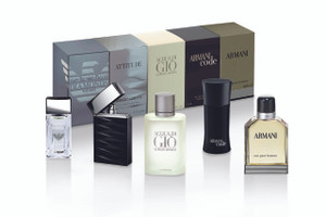 Giorgio Armani Men's Boxed Collection, EDP, 2 x 4 ML, 3 x 5 ML