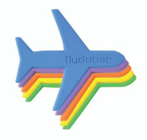.flydubai Plane magnet Set