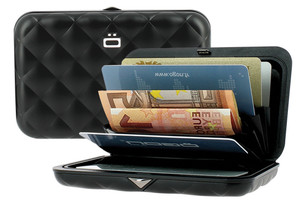 .Aluminium Quilted Black Wallet by ÌÐgon