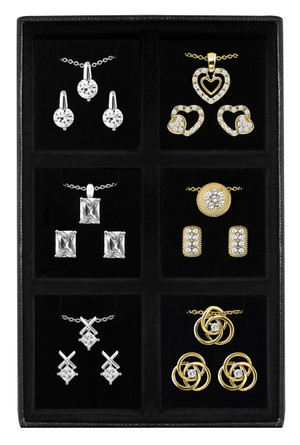 6 Pair Earring & 6 Pendant Set by Cia Venitta
