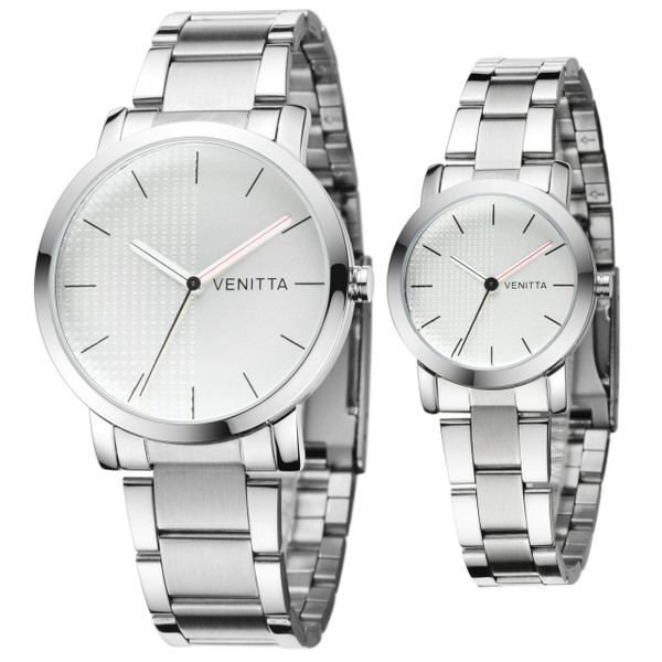 Twin Watch Set - Silver by Venitta