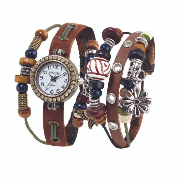 Hipppie Chic Boho Watch & Bracelet Set