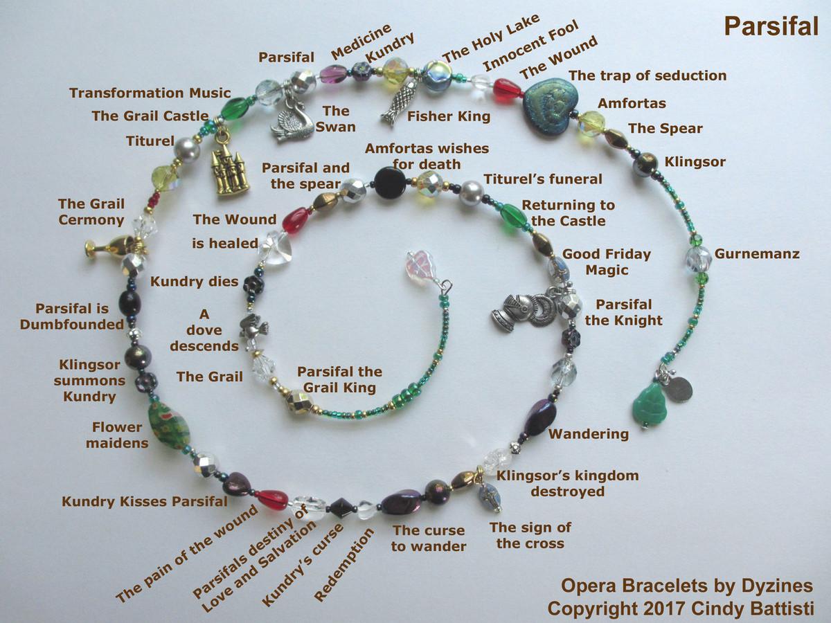 Opera Bracelets Parsifal Wagner