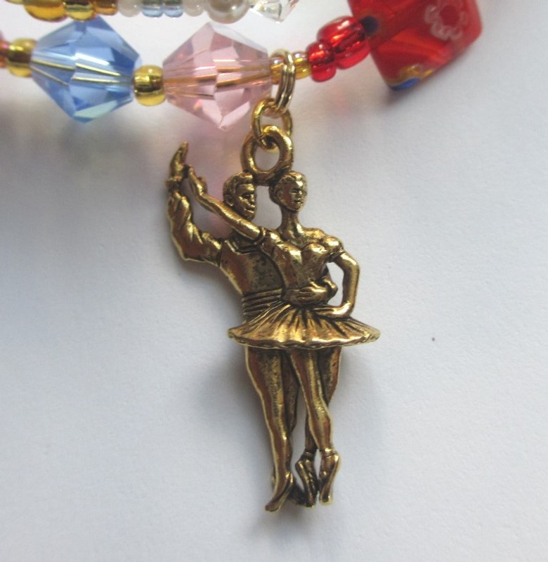 The Nutcracker Bracelet details: The Sugar Plum Fairy and her Cavalier.