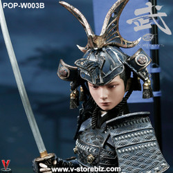 POPToys W003B Butterfly Helmet Female Samurai Old Color Armor (Luxury Ver.)
