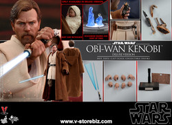 Hot Toys MMS478 Star Wars : Episode III Revenge of the Sith Obi-Wan Kenobi (Deluxe)