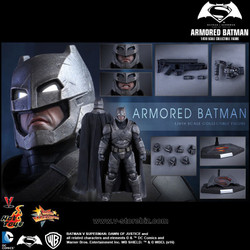 Hot Toys MMS349 Batman v Superman: Dawn of Justice Armored Batman