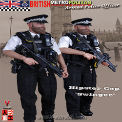 Modeling Toys MMS9002 British Metropolitan Police Service Armed Police Officer