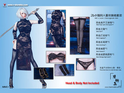 Manmodel MM011A MISS 2B's Lace Cheongsam Set Black