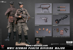 DAMToys 1/12 Pocket Elite Series WWII German Panzer Division Major