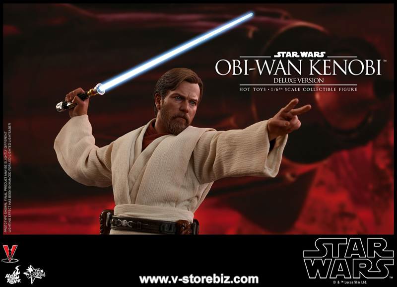 Hot Toys MMS478 Star Wars : Episode III Revenge of the Sith Obi-Wan Kenobi (Deluxe)