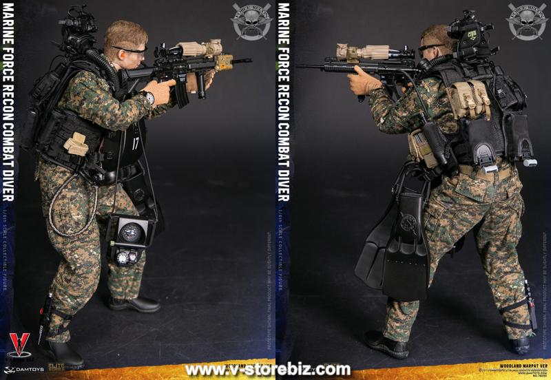 DAM 78055 Marine Force Recon Combat Diver (Woodland MARPAT Version)