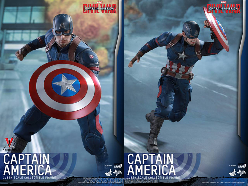 Hot Toys MMS350 Captain America: Civil War Captain America