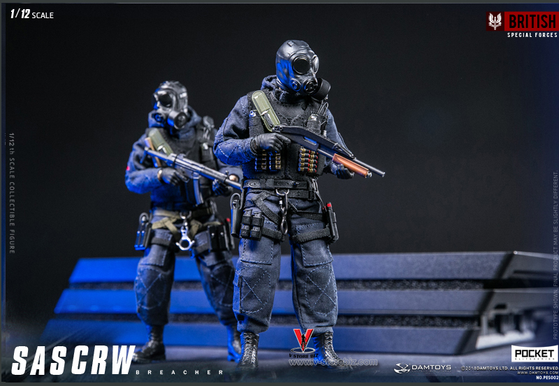 DAMTOYS 1/12 POCKET ELITE SAS CRW Assaulter & Breacher Set