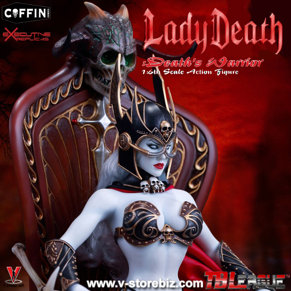 TBLeague PL2017-104A Lady Death  Death's Warrior V2 Figure w/ Base & Throne