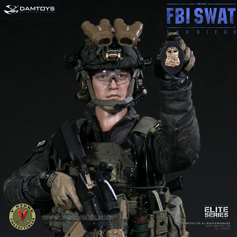 DAMToys 78044B FBI SWAT Team Midnight Ops Agent - San Diego