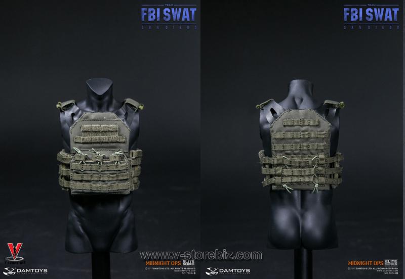 DAMToys 78044B FBI SWAT Team Midnight Ops Agent San Diego