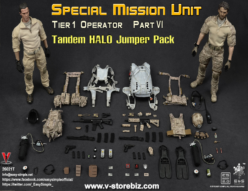 E&S 26021T Tier 1 SMU Part VI Tandem HALO Jumper Pack