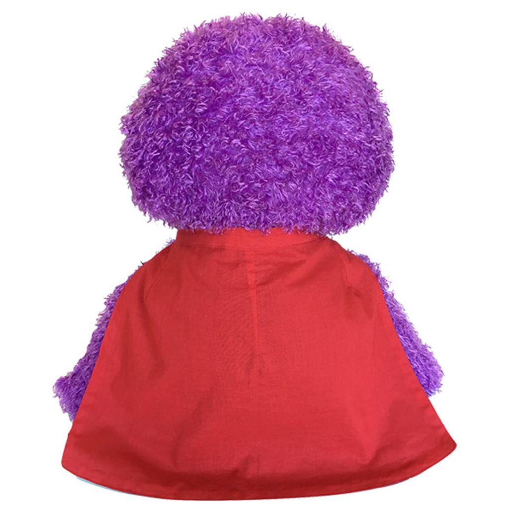 Meebie wearing the Super Cape - back view