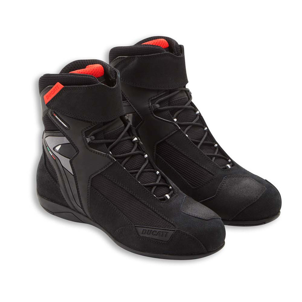 Ducati Company 3 Motorcycle Street Boots Short Ankle Suede Leather