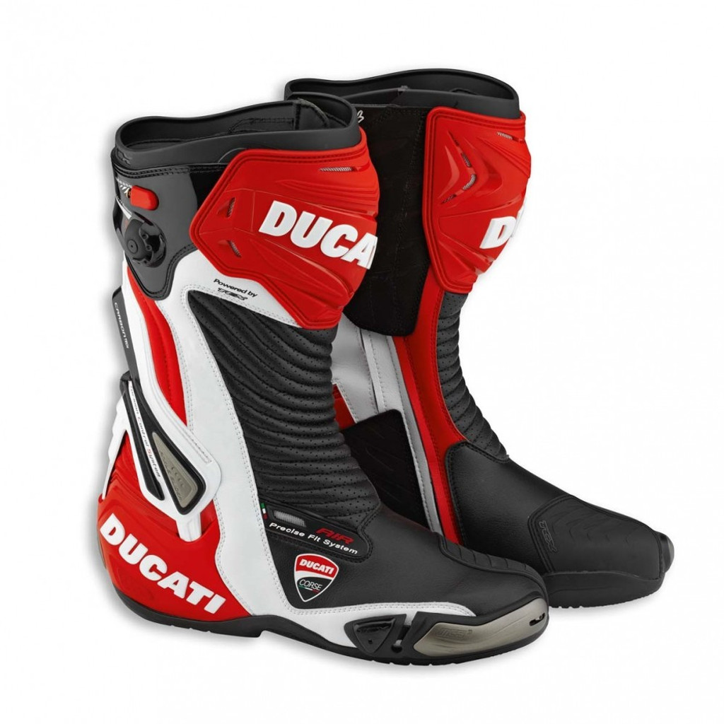 Ducati Corse 2 Leather Motorcycle Race Racing Boots TCX 9810288