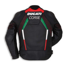 Ducati Corse C3 Perforated Leather Jacket by Dainese (Black)