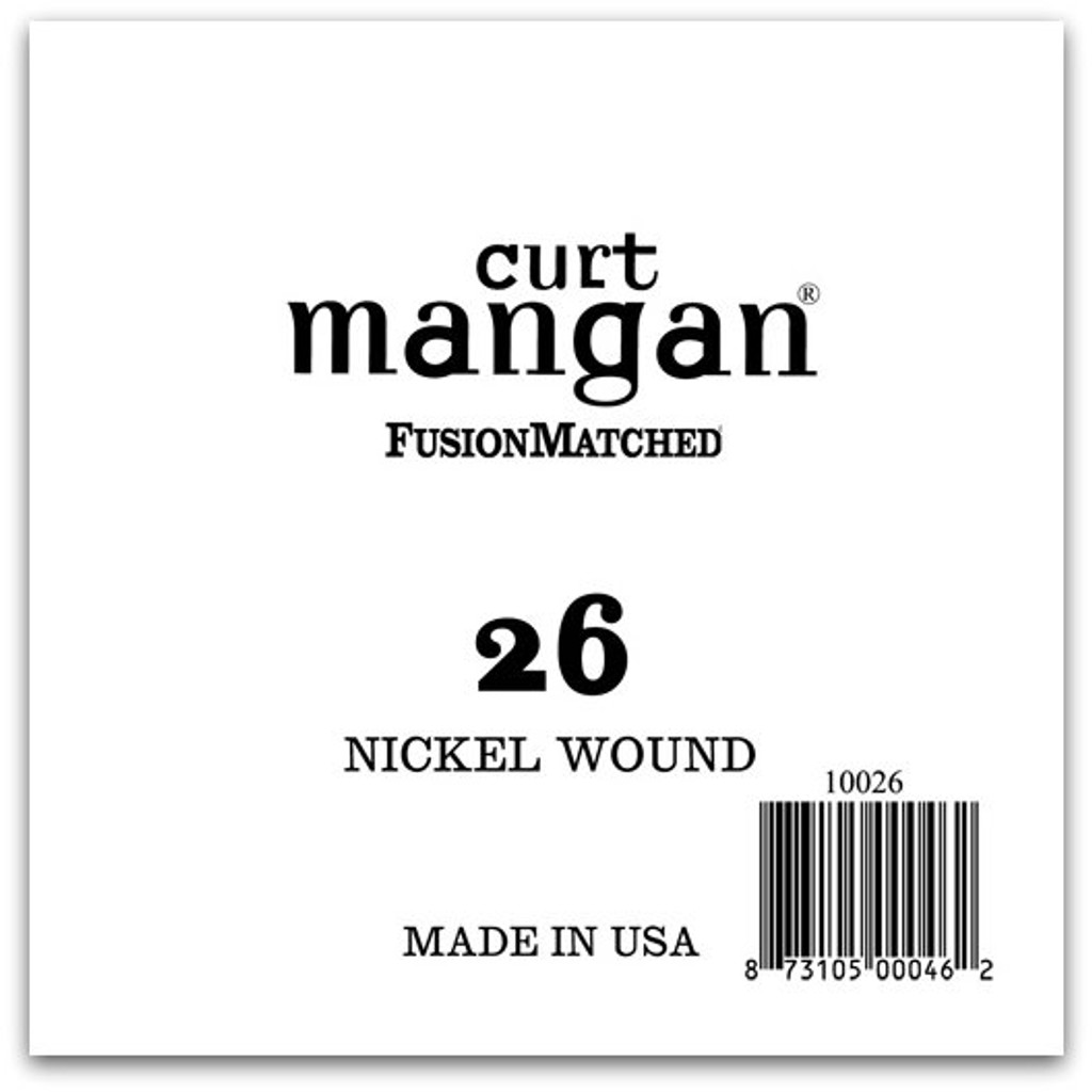 26 Nickel Wound Ball End Single String