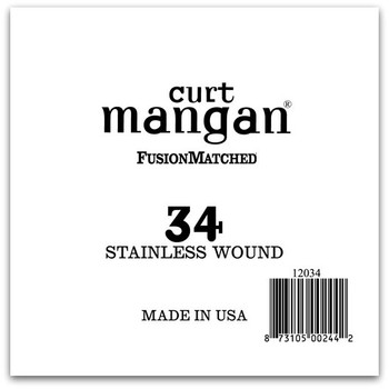 34 Stainless Wound Ball End Single String