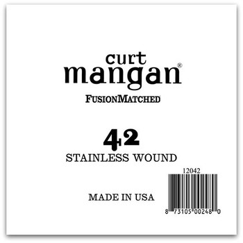 42 Stainless Wound Ball End Single String