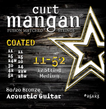 11-52 80-20 Bronze 12-String Medium Set COATED