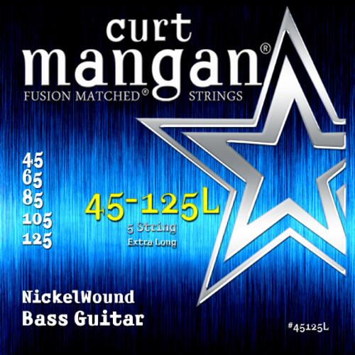 45-125 Nickel Bass 5-Strings Ex-Long