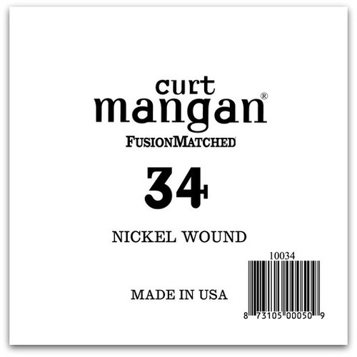 34 Nickel Wound Ball End Single String