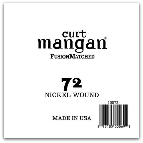 72 Nickel Wound Ball End Single String