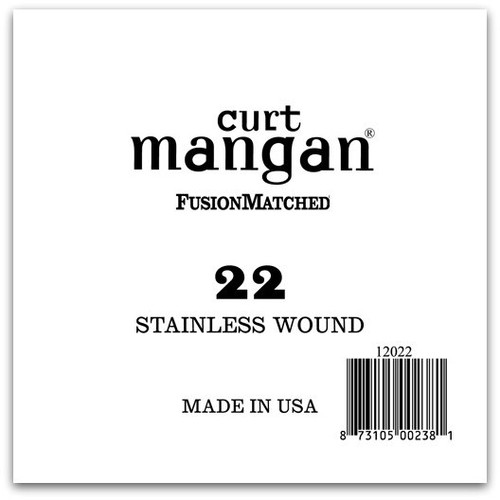 22 Stainless Wound Ball End Single String