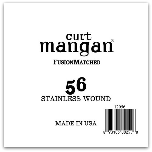 56 Stainless Wound Ball End Single String