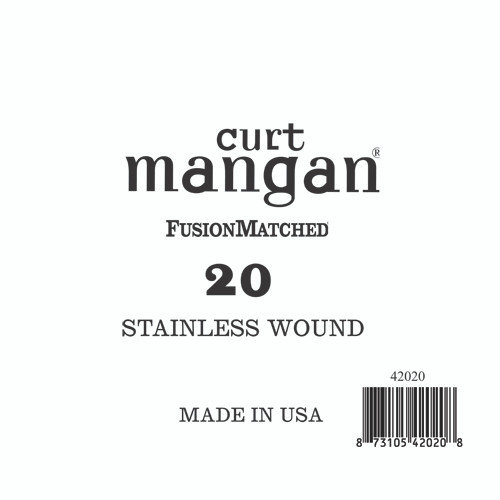20 Stainless Wound Bass Single String