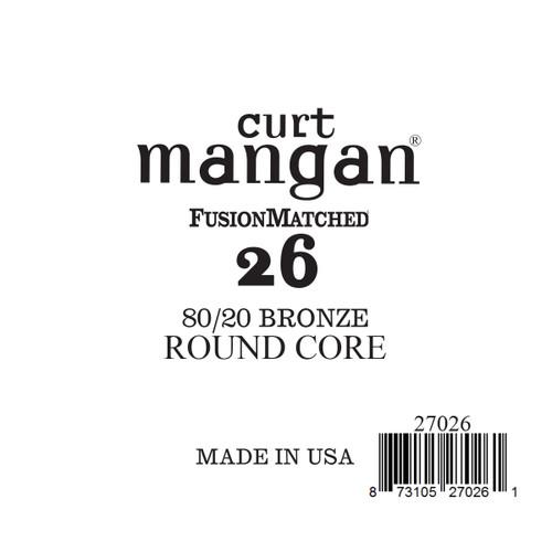 26 80/20 Bronze ROUND CORE Single String