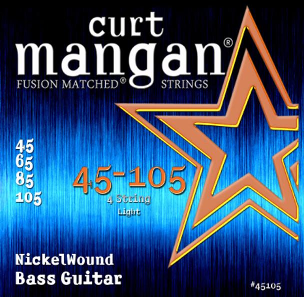 45-105 Nickel Wound Light 4-String Bass Set
