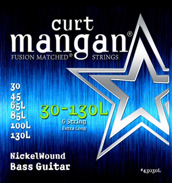 30-130 Nickel Bass Set Extra Long 6 String