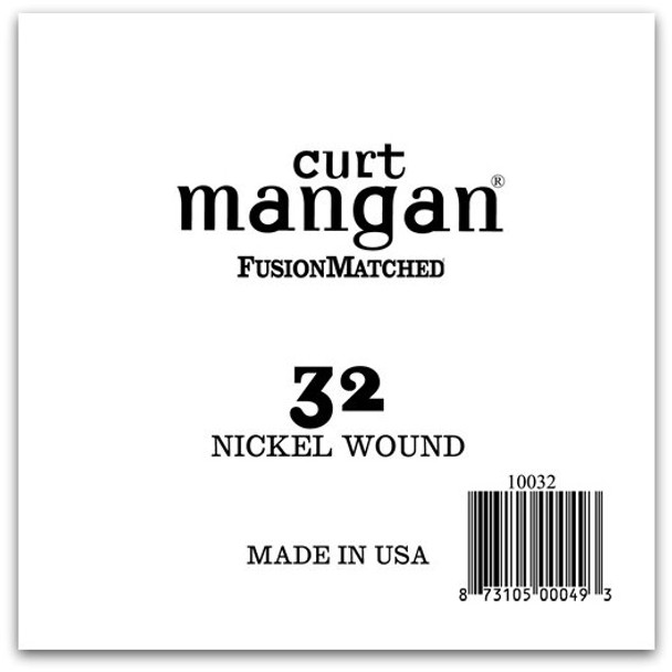 32 Nickel Wound Ball End Single String