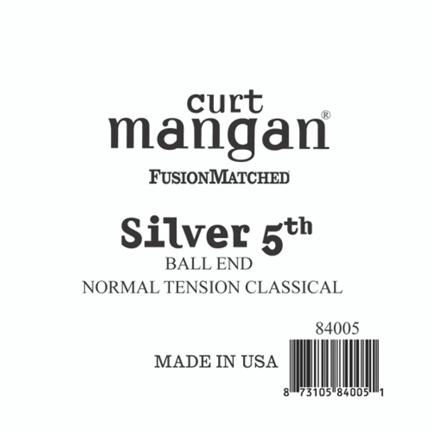 Silver 5th Ball End Normal Tension Single String