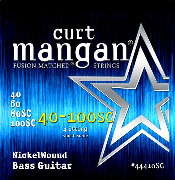 40-100 Short Scale Nickel Bass Set 4 String