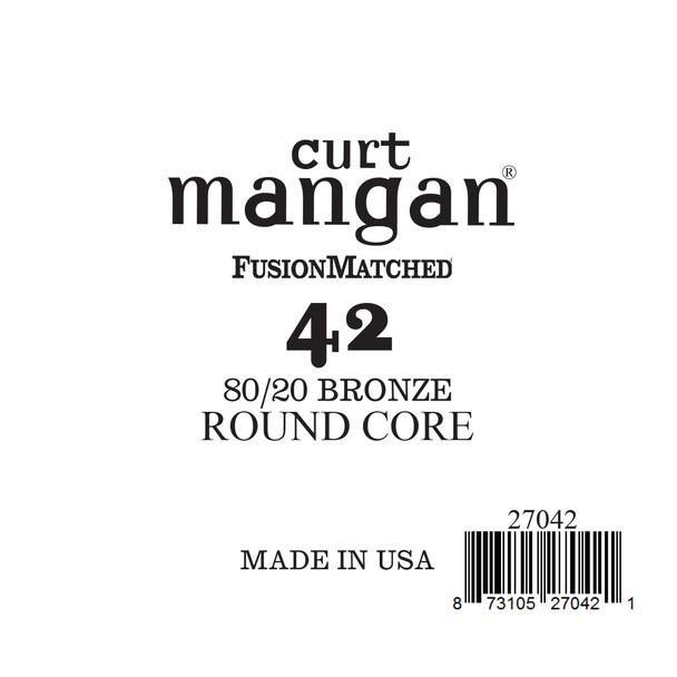 42 80/20 Bronze ROUND CORE Single String