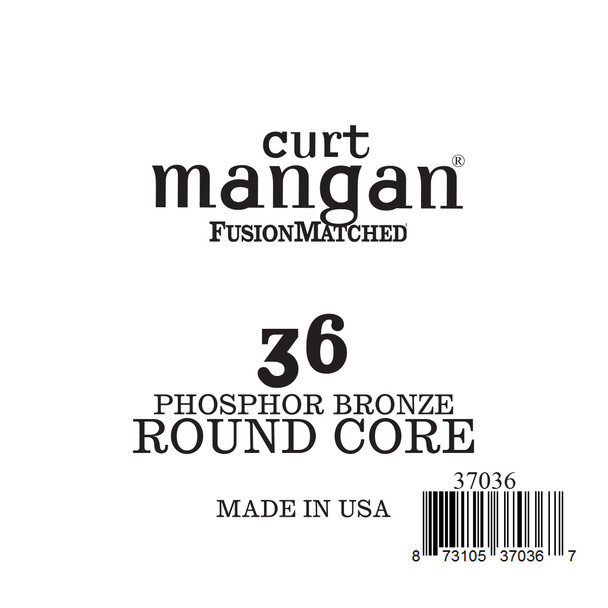 36 Phozphor Bronze ROUND CORE Single String