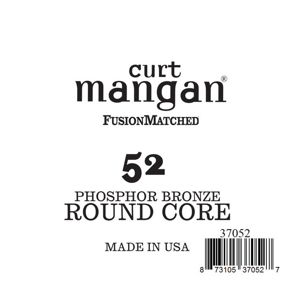 52 Phozphor Bronze ROUND CORE Single String