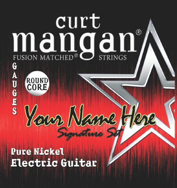 8 X Pure Nickel ROUND CORE Plain 3rd Custom Guitar String Sets