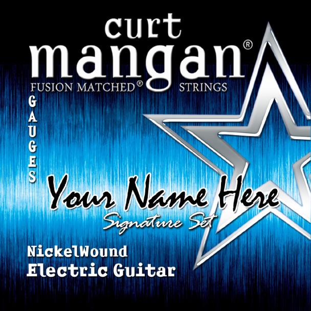 8 X Nickel Wound Plain 3rd 7-STRING Custom Guitar String Sets