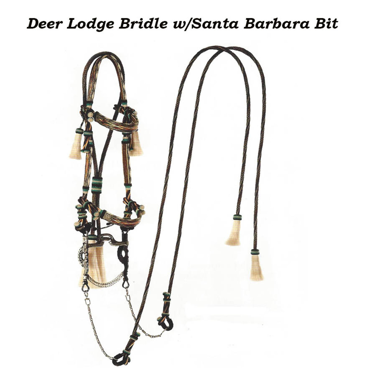 Hitched Horsehair Bridle - Western Horse Store