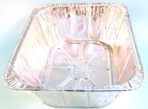 Handy foil aluminum takeout container. Perfect for keeping food warm. Easy storage.