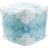 Watercolor Pouf - Aqua